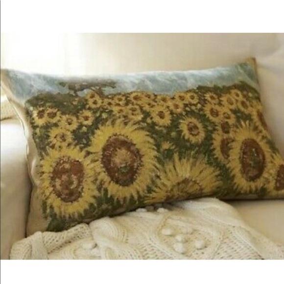Pottery Barn Accents Sunflower Lumbar Poshmark